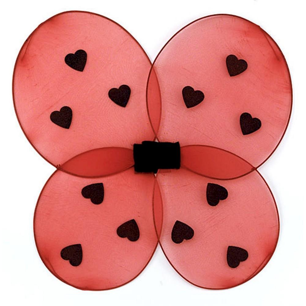 Kids' Halloween Ladybug Wings Red, Girl's