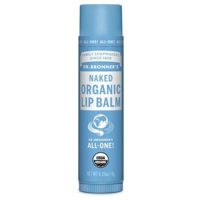Dr. Bronner's Organic Lip Balm Naked - .15oz