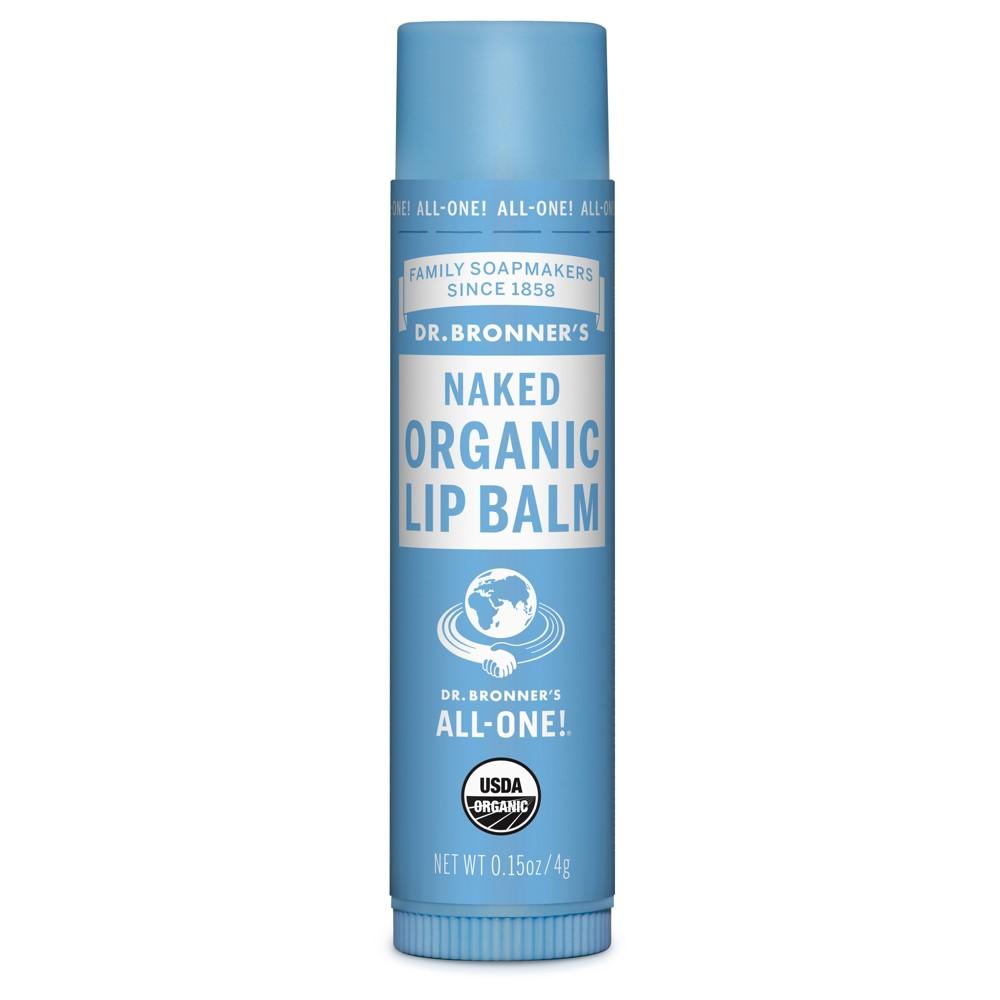 Image of Dr. Bronner's Organic Lip Balm Naked - .15 oz