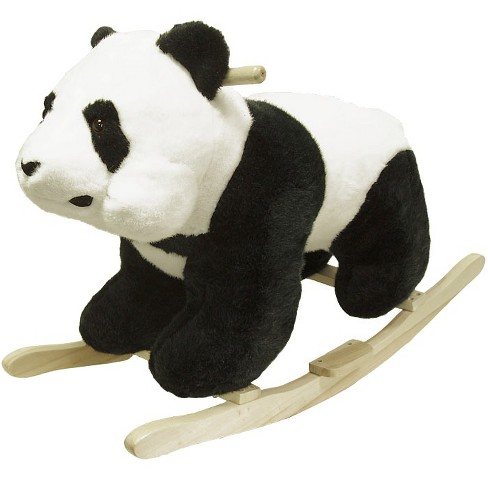 Happy Trails Plush Rocking Panda - Black/White - image 1 of 2