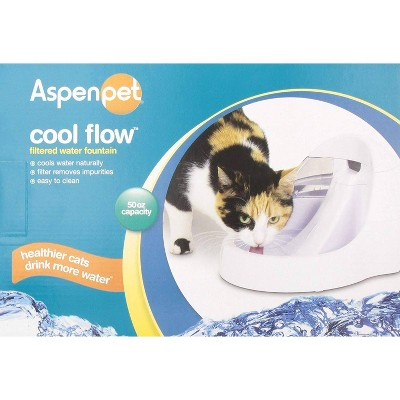 ASPEN Pet Cool Fresh Flow Purifying Fountain Automated Pet Waterer - White