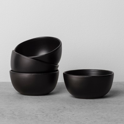 4pk Stoneware Mini Bowl Black - Hearth & Hand™ with Magnolia
