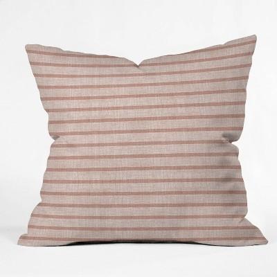 "18""x18"" Holli Zollinger Zhi Stripe Square Throw Pillow Pink - Deny Designs"