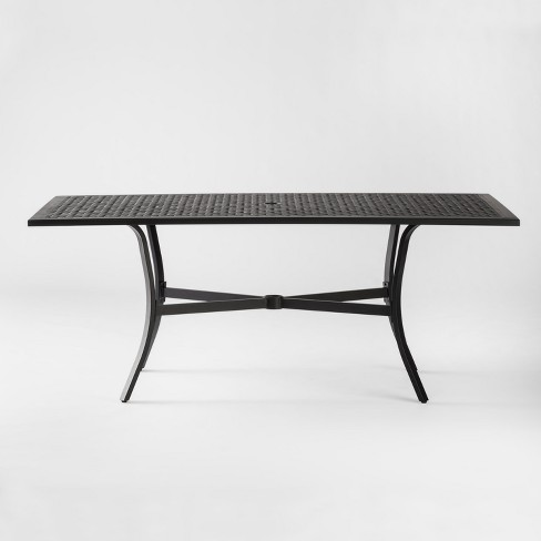 Chester Aluminum Rectangle Patio Dining Table Threshold