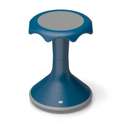 "VS America Hokki Stool Flexible Ergonomic Seating- 18"" Blue"