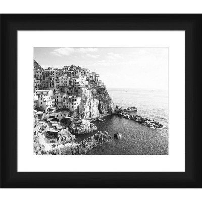 """13"""" x 15"""" Matted to 2"""" City In The Rocks Picture Framed Black - PTM Images"""