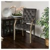 Saltillo New Velvet Arm Dining Chair - Charcoal - Christopher Knight Home - image 2 of 4