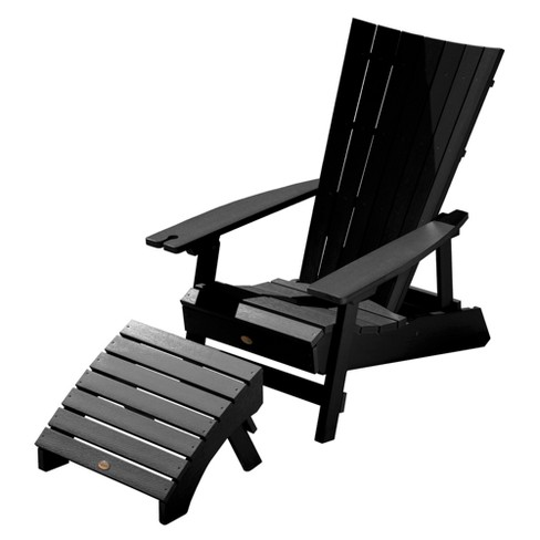 Manhattan Beach Adirondack Patio Chair With Ottoman Wine Gl Holder Highwood