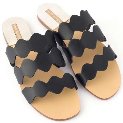 Mio Marino - Women's Scalloped Slide Sandal