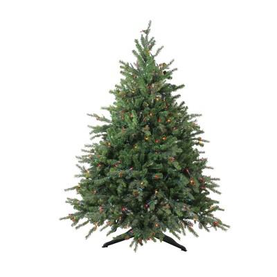 Northlight 4.5' Prelit Artificial Christmas Tree Hunter Fir Full - Multicolor Lights
