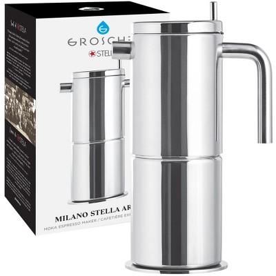 GROSCHE Milano Stella Aroma Luxury Stovetop Espresso Maker Moka Pot