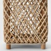 """14"""" Maize and Wood Outdoor Lantern with Glass - Opalhouse™ - image 3 of 4"""