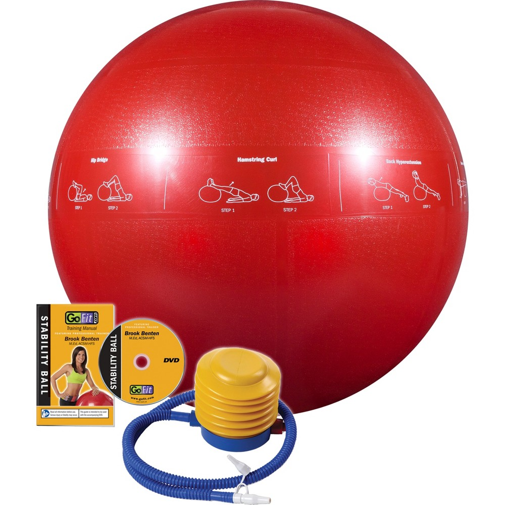GoFit Pro Stability Ball - Red (65cm)