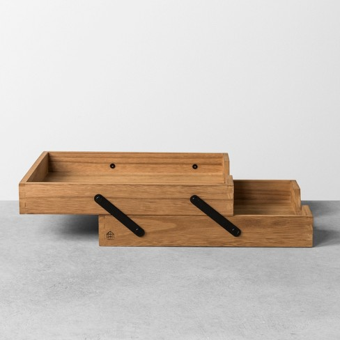 wood letter tray hearth hand with magnolia