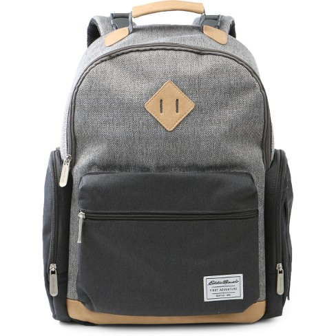 Eddie Bauer Bridgeport Places & spaces Back Pack Diaper Bag - Gray with Tan - image 1 of 4