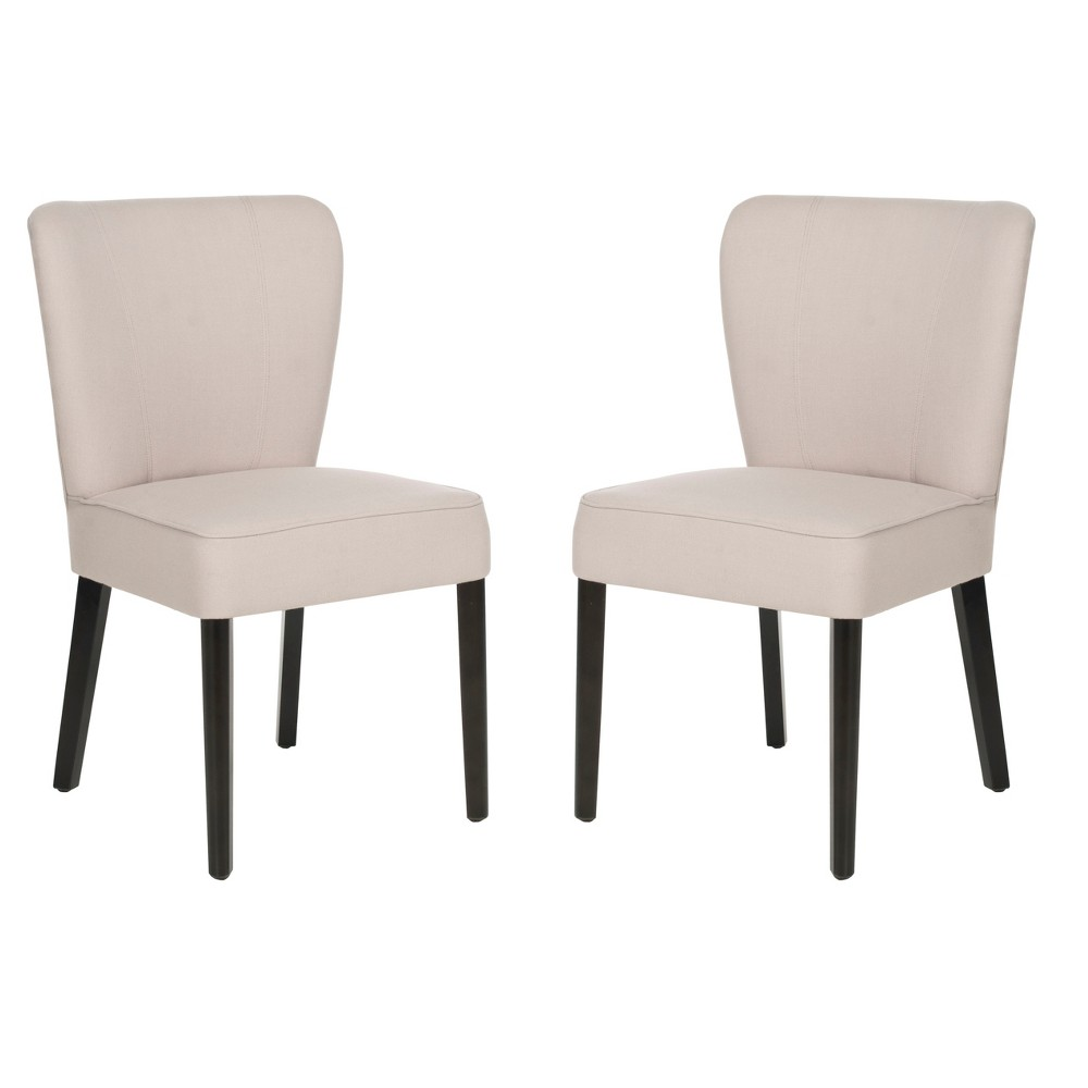 Clifford Dining Chair - Taupe (Set of 2) - Safavieh, Brown/Black