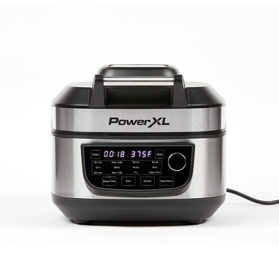 PowerXL 6qt Indoor Grill and Air Fryer - Silver