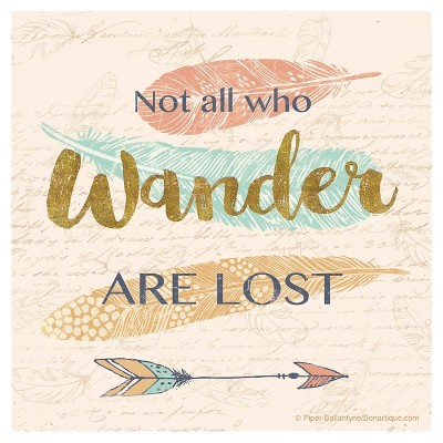 Thirstystone Not All Who Wander Are Lost Coaster Set of 4