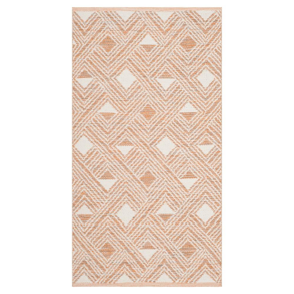 Peach/Ivory (Pink/Ivory) Geometric Woven Area Rug 5'X8' - Safavieh