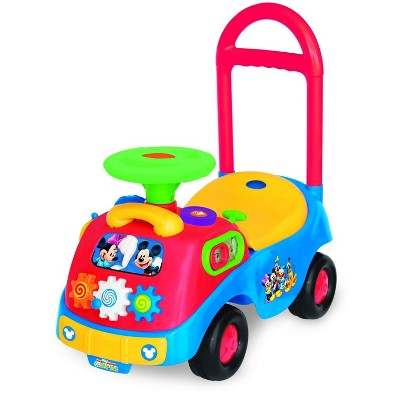 Kiddieland Toys KDL-035311 Disney Mickey and Friends Gears Ride On Push Toy Car