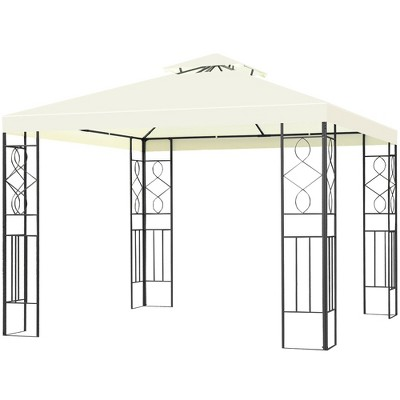 Costway 2 Tier 10'x10' Patio Gazebo Canopy Tent Steel Frame Shelter Awning