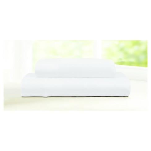 Egyptian Cotton Sateen Deep Pocket 4pc Solid Sheet Set 600 Thread Count - Tribeca Living® - image 1 of 1