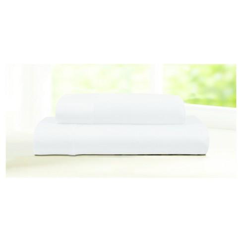 600 Thread Count Cotton 4pc Deep-Pocket Sheet Set - Tribeca Living - image 1 of 1
