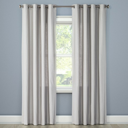 Natural Solid Curtain Panel - Threshold™ - image 1 of 6