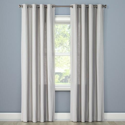 Natural Solid Curtain Panel Threshold Target