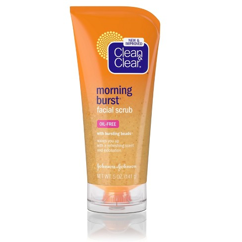 Clean & Clear Morning Burst Facial Scrub For All Skin Types - 5 fl oz - image 1 of 4