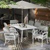 Beacon Hill 6 Person Slat Top Patio Dining Table White - Project 62™ - image 2 of 3
