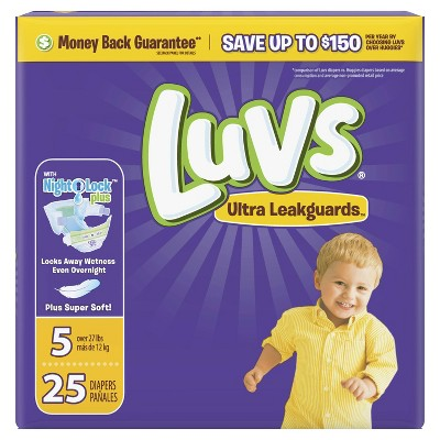 Luvs Disposable Diapers Jumbo Pack - Size 5 (25ct)