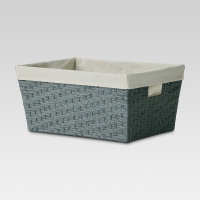 Large Lined Basket - Gray Weave - Threshold™