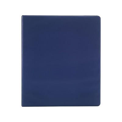 Staples Simply .5-inch Round 3-Ring Non-View Binder Navy (26648) 26648-CC