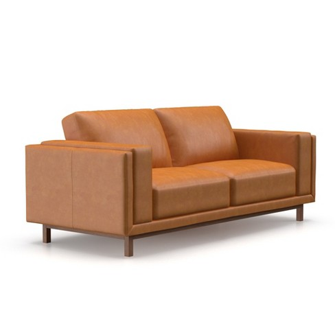 Theo Modern Faux Leather Sofa Af Lifestyle Target