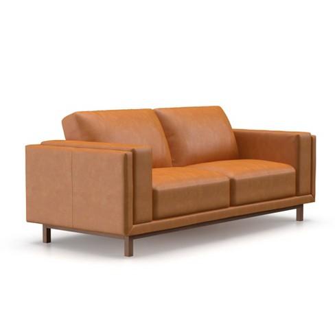 Theo Modern Faux Leather Sofa Af Lifestyle