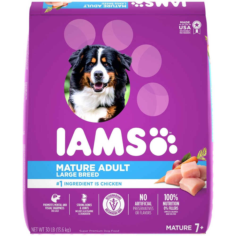 Iams Mature Adult Large Breed Dry Dog Food 30lbs