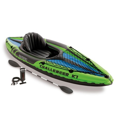 Intex Challenger K1 1-Person Inflatable Sporty Kayak w/ Oars And Pump   68305EP - image 1 of 5
