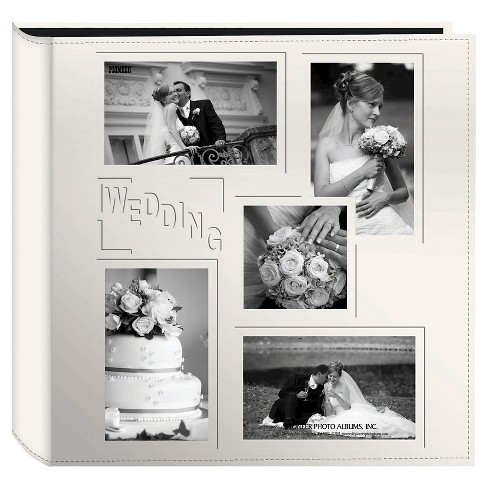 Embossed Collage Frame 5 Up Photo Wedding Album - image 1 of 1
