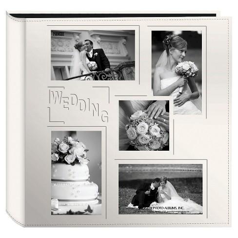 Embossed Collage Frame 5 Up Photo Wedding Album - image 1 of 1