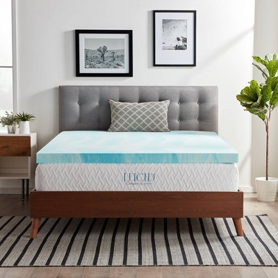 "Comfort Collection 3"" Gel Swirl Memory Foam Mattress Topper - Lucid"
