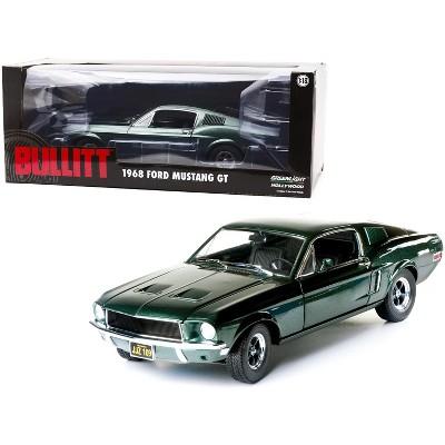 """1968 Ford Mustang GT Fastback Highland Green """"Bullitt"""" (1968) Movie 1/18 Diecast Model Car by Greenlight"""