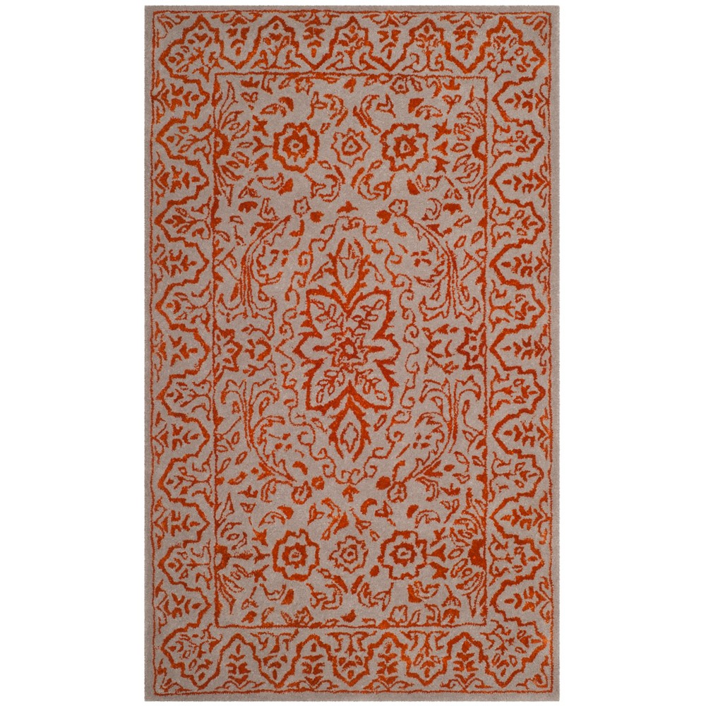 3x5 Tufted Floral Accent Rug Gray Safavieh Grayred