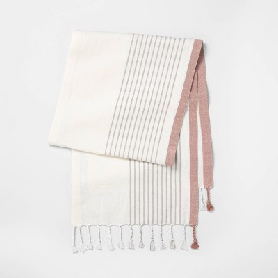 Table Runner Gray Stripe - Hearth & Hand™ with Magnolia