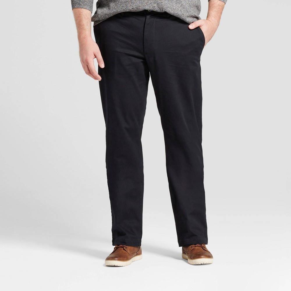 Men S Big Tall Straight Fit Hennepin Chino Pants Goodfellow Co 8482 Black 44x30