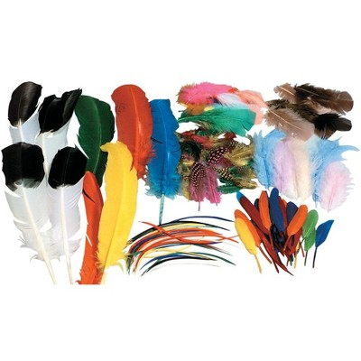 Creativity Street Non-Toxic Assorted Shape Feather Classroom pk, Assorted Size, Assorted Color
