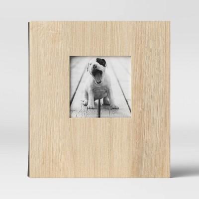 "4"" x 6"" Paper Wood Veneer Album Screw Bound Brown 2 Per Page - Threshold™"