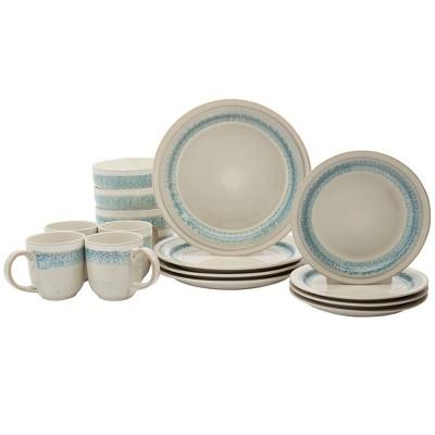 16pc Stoneware Milan Dinnerware Set - Tabletops Gallery