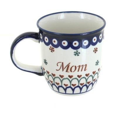 Blue Rose Polish Pottery Mom Mug