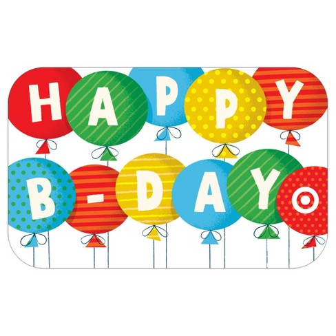 Happy Birthday Balloons GiftCard